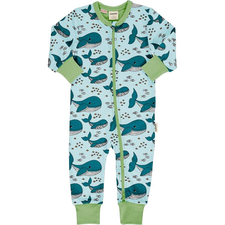 Rompersuit LS Whale Waters