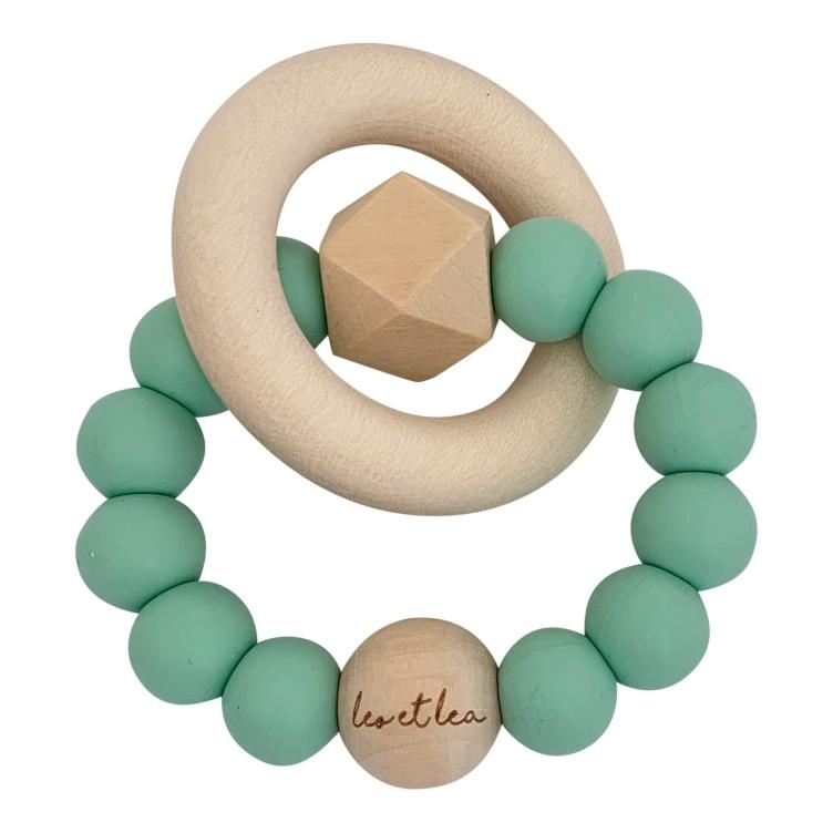 Hexa Baby Teether, Mint