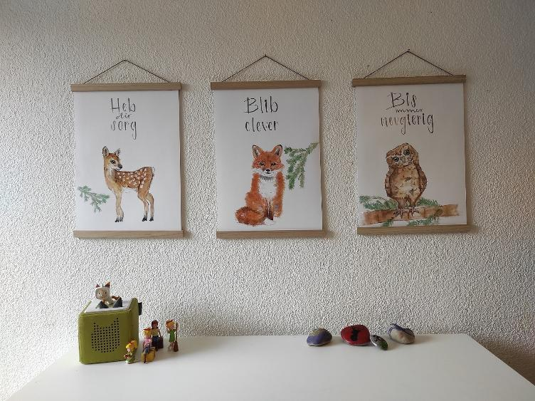 Poster A3 Waldtiere